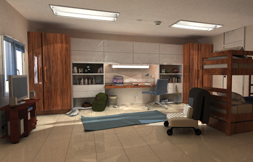Residential Dorm Room