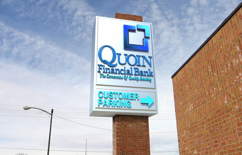 Quoin Bank Sign
