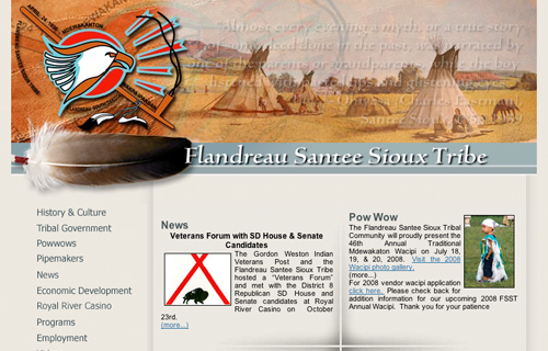Santee Sioux Tribe Website